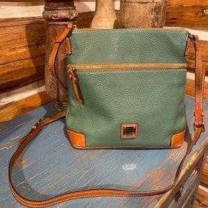 Dooney & Bourke Hunter Green Tan Crossbody Handbag